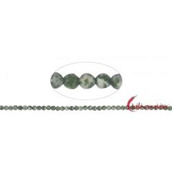 Strang Kugeln Serpentin (gepunktet) facettiert 4 mm