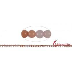 Strang Kugeln Eisenkiesel (rosa) 2 mm