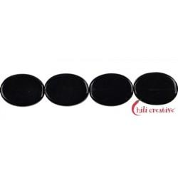 Strang Linse Obsidian (schwarz) 16 x 12 mm