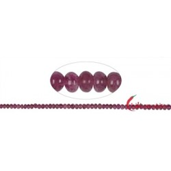 Strang Button Turmalin (Rubellit) 2,5-5,0 x 3,5-6,0 mm (Verlauf)