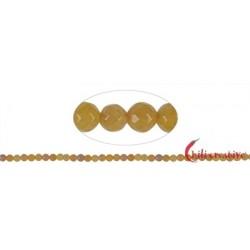 Strang Kugeln Eisenkiesel (gelb) facettiert 4 mm (38cm)