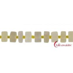 Strang Scheibe Wheel Shape Limonenquarz (erhitzt) matt 4-6 x 10-11 mm