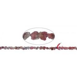 Strang Nugget roh Turmalin (rosa) 5-7 mm (35cm)