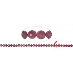 Strang Kugeln Turmalin (rosa) facettiert 5 mm