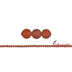 Strang Kugeln Blutchalcedon (natur) matt 4 – 5 mm
