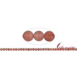 Strang Kugeln Blutchalcedon (natur) matt 5 – 6 mm