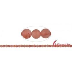 Strang Kugeln Blutchalcedon (natur) matt 6 – 7 mm