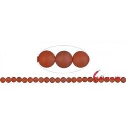 Strang Kugeln Blutchalcedon (natur) matt 8 - 9 mm