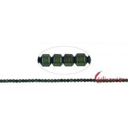 Strang Hexagon Hämatin grün (gefärbt) matt 2 mm