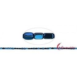 Strang Quader gerundet Hämatin blau (gefärbt) 5 x 3 mm