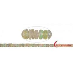 Strang Button Opal (Feueropal) 2 x 3-6 mm (42cm) mit Verlauf