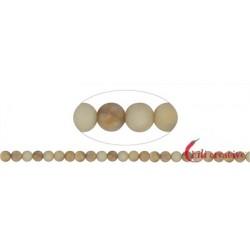 Strang Kugeln Granit gelb matt 8 mm (38cm)