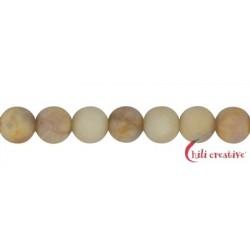 Strang Kugeln Granit gelb matt 10 mm (38cm)
