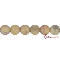 Strang Kugeln Granit gelb matt 12 mm (38cm)