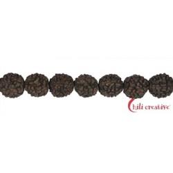 Strang Kugeln Rudraksha (schwarzbraun) 10 mm