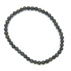 Kugel-Armband Bronzit (Ferro Enstatit) 4 mm