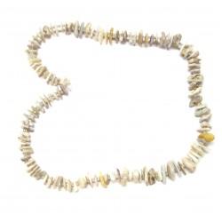 Strang Splitter Opal weiß 10 mm