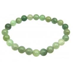 Kugel-Armband Aventurinquarz grün gescheckt 8 mm