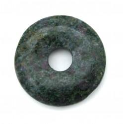 Donut Fuchsit mit Rubin 30 mm
