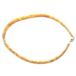 Button-Kette Opal mit Farbspiel im Verlauf 5-8/45 925er Silber