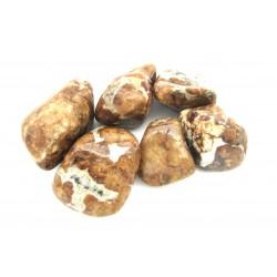 Trommelstein Granat Spessartin in Kalkstein (Erlan) 500 g
