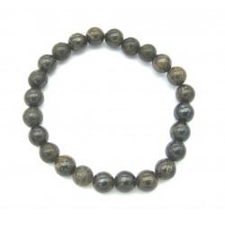 Kugel-Armband Bronzit (Ferro Enstatit) 8 mm