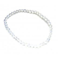Kugel-Armband Opalglas (Kunstglas) facettiert 4 mm