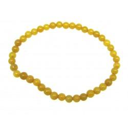Kugel-Armband Chalcedon gelb 4 mm