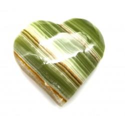 Herz Aragonit-Calcit grün-braun 55 mm