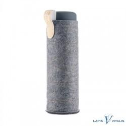VitaJuwel Filz-Sleeve für Flaschen dunkelgrau