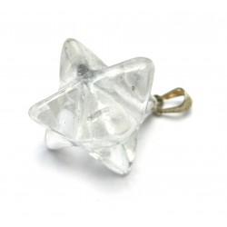 Markaba Bergkristall 2 cm mit 925er Silber-Öse