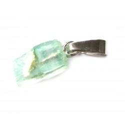 Anhänger Apophyllit grün Kristall 1-1,5 cm 925er Silber-Öse