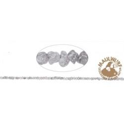 Strang Rohkristalle Diamant (silbergrau) 1-2 mm
