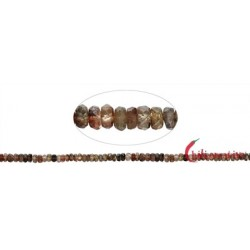 Strang Button Andalusit facettiert 2-4 x 4-7 mm verlaufend