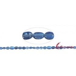 Strang Linsen Disthen (blau) AAA 7-10 x 4-7 mm mit Verlauf