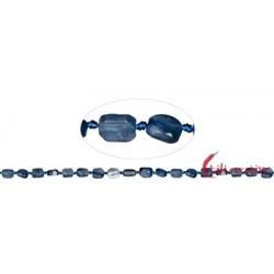 Strang Scheiben Freeform Disthen (blau) 10 x 8 mm (43 mm)