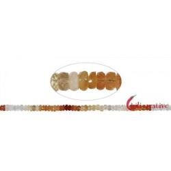 Strang Button Feueropal facettiert 2-3 x 5-6 mm