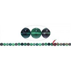 Strang Kugeln Fluorit (grün/bunt) 8 mm