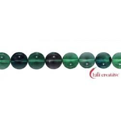 Strang Kugeln Fluorit (grün/bunt) 10 mm
