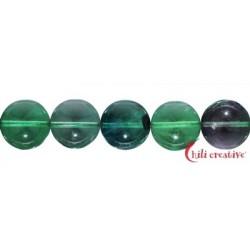Strang Kugeln Fluorit (grün/bunt) 12 mm