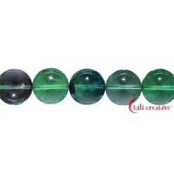 Strang Kugeln Fluorit (grün/bunt) 16 mm