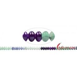 Strang Button Fluorit (bunt) 5 x 8 mm
