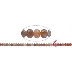 Strang Button Mondstein (titanbedampft) facettiert 5 x 8 mm