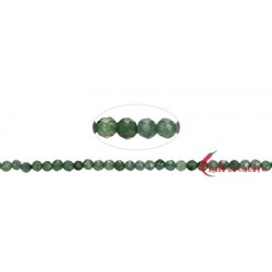 Strang Kugeln Nephrit facettiert 2 mm