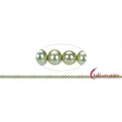 Strang Potatoe Süßwasser-Perle A grün (gef.) 5 mm