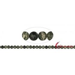 Strang Kugeln Serpentin (Silberauge) matt 8 mm
