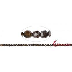 Strang Kugeln Bronzit (Ferro-Enstatit) facettiert (Starcut) 5-6 mm