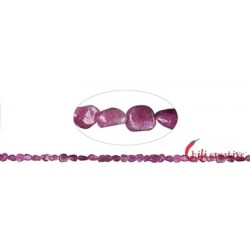 Strang Trommelstein-Chip Turmalin (rosa-rot) 3-4 x 5-6 mm