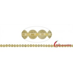 Strang Kugeln Beryll Heliodor (gelb) 5 mm