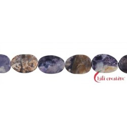 Strang Freeform flach Fluorit-Opal-Jaspis (Tiffany Stone) 16 x 12 mm